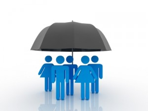 Das Prinzip einer Versicherung gleicht einem Rettungsschirm: Alle für einen.
